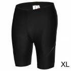 ACACIA 0299102 Men's Cycling Lycra + Polyester + Silicone Shorts - Black (XL)