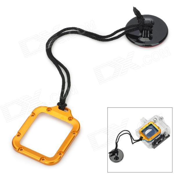 Фото miniisw High Precision Lens Ring with Safety Tether for Gopro Hero 3 mymei outdoor 90db ring alarm loud horn aluminum bicycle bike safety handlebar bell