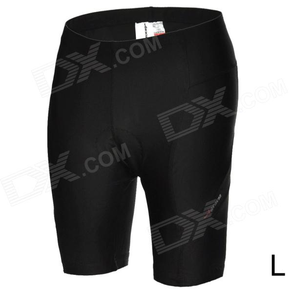 ACACIA 0299102 Men's Cycling Lycra + Polyester + Silicone Shorts - Black (L) arsuxeo ar5558 cycling nylon lycra shorts w silicone pad for men black red l