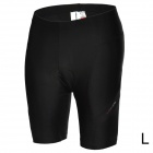 ACACIA 0299102 Men's Cycling Lycra + Polyester + Silicone Shorts - Black (L)