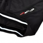 ACACIA 0299102 Men's Cycling Lycra + Polyester + Silicone Shorts - Black (XXL)