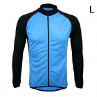 ARSUXEO AR6020 Men's Cycling Quick-drying Polyester Long Sleeves Jacket - Blue + Black (Size L)