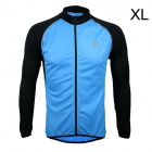 ARSUXEO AR6020 Men's Cycling Quick-drying Polyester Long Sleeves Jacket - Blue + Black (Size XL)