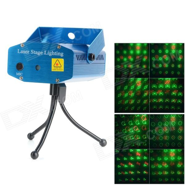 A-20 Green Light / Red Light Mini Laser Stage Lamp - Blue (US Plug / 100~240V)