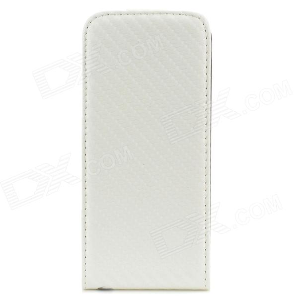 Hotsion TF02 Protective PU Leather Top Flip-Open Case for Iphone 5 - White + Black чехол накладка чехол накладка iphone 6 6s 4 7 lims sgp spigen стиль 1 580075