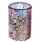 DFL JB-1220 4 x 6 Inch Retro Mosaic Glass LED Candle (2 x C Battery)