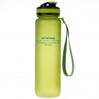 UZSPACE High-Quality Leak-Proof Frosted Colorful Bottle w/ Elastic Cover - Green (1000mL)