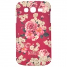 Elegant Flowers Style Protective PC Back Case for Samsung Galaxy S4 i9500 - Red