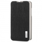 ROCK Protective Flip-Open Style PU Leather Case for ZTE N5 - Black