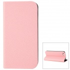 GTcoupe i-001 Seamless Protective PU Leather Case for Iphone 5 - Pink + Black