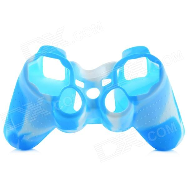 Universal Silicone Cover for PS2/PS3 Wired Wireless Controller - Blue + White