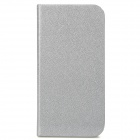 GTcoupe i-001 Protective Seamless Flip-Open PU Leather Case for Iphone 5 - Silvery Grey