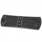 RII i24 Mini Wireless Air Mouse Keyboard Combo - Black
