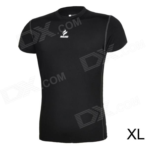ARSUXEO AR6002S Men's Sports Quick-drying Polyester + Lycra Skin-tight T-shirt - Black (XL) a s 98 415203 101 6002 nero