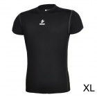 ARSUXEO AR6002S Men's Sports Quick-drying Polyester + Lycra Skin-tight T-shirt - Black (XL)