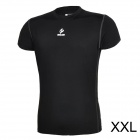 ARSUXEO AR6002S Men's Sports Quick-drying Polyester + Lycra Skin-tight T-shirt - Black (XXL)