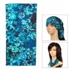 6032610 Multifunction Outdoor Cycling Polyester Seamless Head Scarf for Men - Deep Blue + Green
