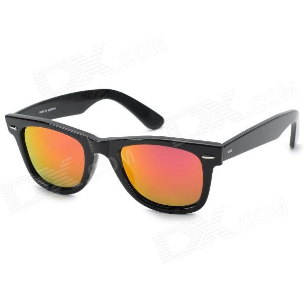 OREKA 2140 UV400 Protection Resin Lens Sunglasses - Black + Red REVO clip on uv400 protection resin lens attachment sunglasses small