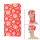 Multifunction Outdoor Sports Bicycle Cycling Seamless Head Scarf - Yellow + Red