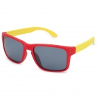 Fashion PC Lens Sunglass - Red + Yellow + Grey