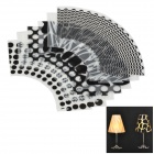Elegant Romantic PP Folding Lampshades on Wine Glass - Black + Transparent (6 PCS)