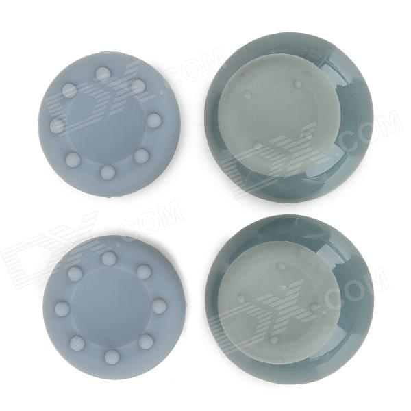 Replacement Plastic Rocker Cap + Nonslip Silicone cap Set for XBOX360 - Grey
