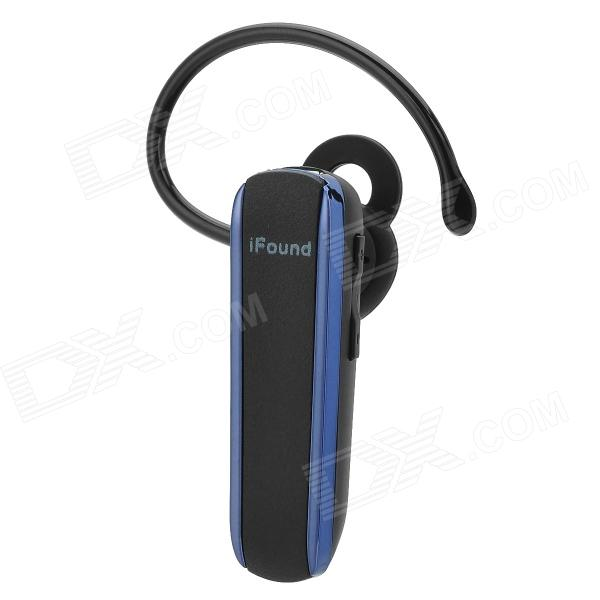 iFound F03 Anti-Radiation Stereo Bluetooth v3.0 Headset w/ Microphone - Black sx 910a bluetooth v2 1 stereo handsfree headset black 10 hour talk 135 hour standby