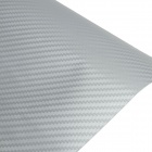 3D Carbon Fiber Paper Decoration Sheet Car Sticker - Silver (30 x 127 CM)