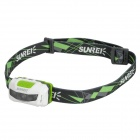 SUNREE Sports2 3-LED 28lm 3-Mode White Headlamp - White + Grey + Green (2 x AAA)