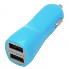 20800 Dual USB Car Cigarette Adapter for Mobile Phone + GPS + More - Blue (DC 12~24V)