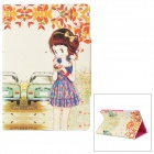 ENKAY ENK-3326 Floral Skirt Girl Pattern Protective PU Leather Case for Ipad  Mini - Multicolor