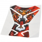 HO2 Cool Decorative Tiger Pattern Fuel Tank Sticker for Motorcycle - Black + Yellow + Red