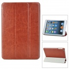 Protective PU Leather Smart Case for iPad Mini - Brown