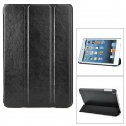 Ultrathin Protective PU Leather Case w/ Smart Cover for iPad Mini - Black
