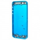 Replacement Titanium Alloy Back Case / Middle Housing Frame for iPhone 5 - Blue