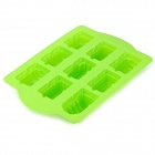 Locomotive Style Silicone 9-Cup Cake / Bread / Chocolate Making Mold - Green