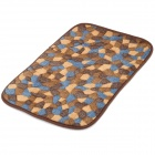 A07-20-10 Water Absorption Coral Fleece Mat / Pad - Coffee + Brown + Blue