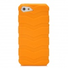 IWALK BCT001i5 Protective Anti-Slip Tyre Tread Style Back Case for Iphone 5 - Orange