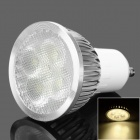 GU10 4W 3500K 280lm 4-LED Warm White Light Lamp Bulb - White (85~265V)