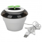 LYL MNXL-300 Portable USB Powered Air Purification Machine w/ Car Charger - White + Black + Green