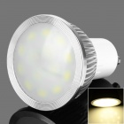 GU10 6W 200lm 3200K Warm White 14-SMD 5630 LED Light Bulb - White + Silver