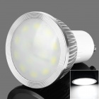 GU10 6W 200lm 3200K White 14-SMD 5630 LED Light Bulb - White + Silver