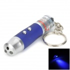 ZJ-03 5mW 650nm Red Laser + 1-LED White + 1-LED Blue-Violet Flashlight Keychain (3 x LR44)