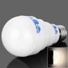 E27 5W 400lm3500K 10-LED Warm White Light Chinese Style Pattern Bulb - White + Blue