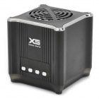 XS018 Portable MP3 Speaker w/ FM Radio / TF - Black + Silver