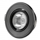 HDX 1W 80lm 3500K Warm White LED Light Ceiling Lamp - Black (85~245V)