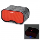 Imarku Q7 2-CH Bluetooth 3.0 Speaker w/ Microphone - Black + Red