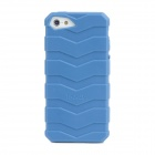IWALK BCT001i5 Protective Anti-Slip Tyre Tread Style Back Case for Iphone 5 - Blue