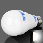 E27 5W 400lm 6500K 10-LED White Light Chinese Style Pattern Bulb - White + Blue