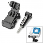 Miniisw J-Shape Fast Assemble Plug w/ Standard 5.4cm Long Screw for Gopro Hero 4/3/3+/2/SJ4000 - Black
